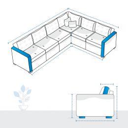 L Shape Sofa Covers - Design 2