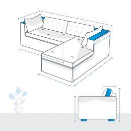 L Shape Sofa Covers - Design 5