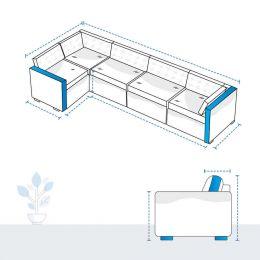 L Shape Sofa Covers - Design 6