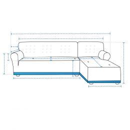 Custom L Shape Sofa Slipcover