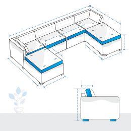 U Shape Sofa Covers - Design 2